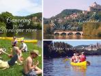 Hire canoes and pass chateaux, Roque Gageac, Castelnaud & Beynac castles