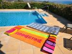 We supply the beach towels! and the beach bags!