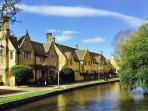The River Windrush in the centre of Bourton-on-the-Water