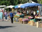 Market at Fete of St Fraimbault