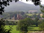 The Beautiful Historic village of New Abbey, featuring Sweet Heart Abbey.