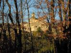 View of the Duomo of Poggio Mirteto and the old town, shot in autumn.