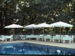 Pool-side private events and celebrations.
