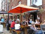 Exeter Quays with its waterfront restaurants and tea shops is 15 minutes walk from the apartment