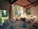 Villa Sarageto - the patio, perfect for small weddings or family reunions