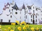neighbouring Blair Castle, 10 minutes from Secret Bothy
