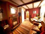 Cosy beamed sitting room