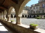 The Abbadia di Fiastra Monastery Courtyard