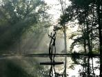 Sculpture floats across the pond