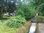 Dahlandhui Burn which runs through the garden @Carloch down to The Gare Loch