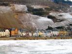 A rare freeze of the Mosel in Feb 2012 - we're open all year!