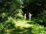Chemin de randonnée près du village