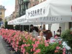 outside caffee in Krakow