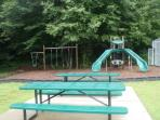 Condo playground area/tennis courts