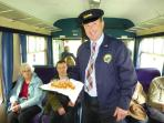 Enjoy a dram on the Keith- Dufftown Railway during the Whisky Festivals in May and Sep