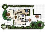 Casa Paloma Site Plan - 1,600 square foot, single family house with generous outdoor living space