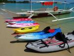 Our kayaks and paddle boards are available for our guests to use.