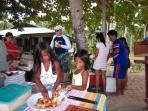 Guests can lunch on the beach or nearby islands. Our package includes an island trip and beach lunch