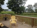 back deck and yard, water front