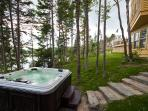 The Retreat's hot tub operates year-round.