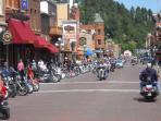 Main Street Deadwood during the Sturgis Rally