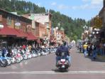 Main Street Deadwood during the Sturgis rally.
