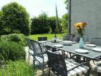 barbcue and garden
