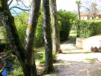 Vast grounds, paths + ornamental fish pond within Manor House and Villa Lusso walls - all yours !