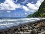 Black Sand Beach in Valley