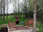 Secluded back Garden for bbqs and chatting surrounded by mature trees