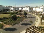 Top Terrace view of the crescent and children's paly area