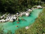 Kayaking on the Soca