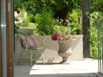 Shady corner on the terrace