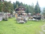 Enjoy a meal at a 300 year old traditional alm watching the rabbits, goats, chickens and ponies.