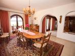 Villa Marlis Ibiza. Dining room. http://www.villamarlis.com