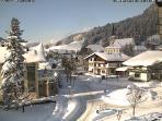 Log cabin on hillside above our magical Austrian village Filzmoos