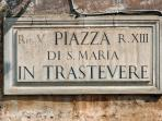Trastevere, is 1 km. away