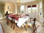 Dining room leading to patio area ideal for todays living
