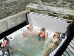 Luxury Hot Tub situated in Original waterwheel pit