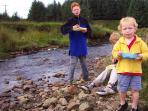 Fun by the stream at Shepherds Retreat