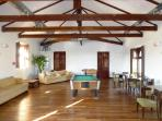 Chill out area in Hacienda with football and pool table