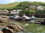 Port Isaac harbour and the fishing boats