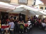 A selection of the restaurants in the Pizzo Piazza