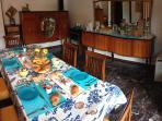 Sala da pranzo (o colazioni, in formula Bed and Breakfast)