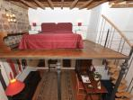 Bed on the loft