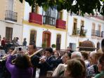 Our location in the llvely village Pizarra can take  our guests by surprise.