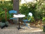Quiet garden area