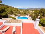 Villa Marlis Ibiza. Panoramic view from above. http://www.villamarlis.com