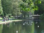 Stephen's Green, a gift from The Arthur Guiness family to Dublin. Ten minutes walk