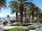 city waterfront promenade near the apartment